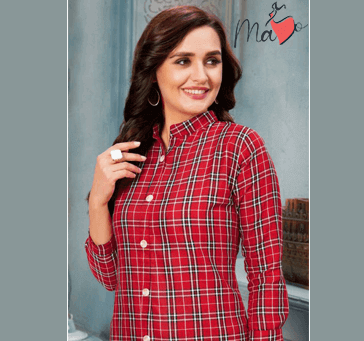 Women Red Checked Dress