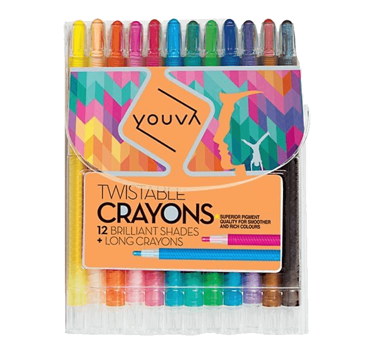 Youva Twistable Crayon (12 Shades)